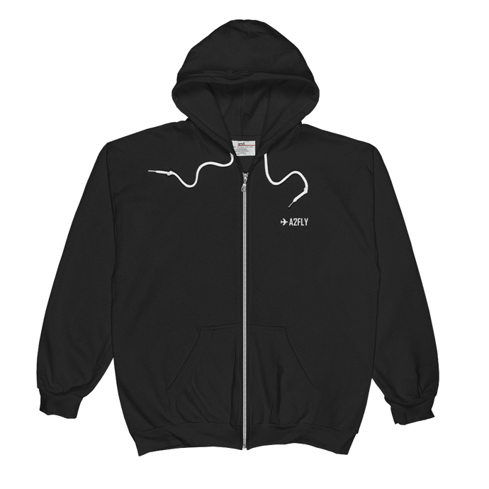 ✈A2FLY ZIP-UP HOODIE - ✈A2FLY