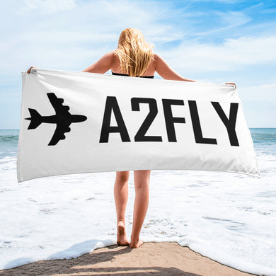 ✈A2FLY Beach Towel