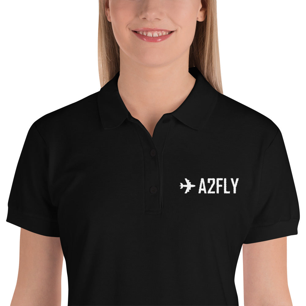 ✈A2FLY Embroidered Women's Polo Shirt