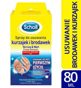 Scholl spray preparat do usuwania kurzajek i brodawek do stóp