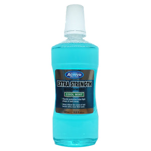 Extra Strength Mouthwash extra mocny płyn do płukania jamy ustnej z fluorem Cool Mint 500ml