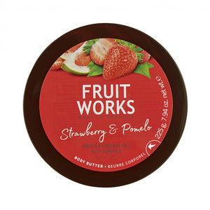 Fruit Works Body Butter masło do ciała Strawberry & Pomelo 225g