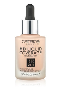 HD Liquid Coverage Foundation 24H matujący podkład do twarzy 010 Light Beige 30ml