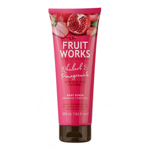 Fruit Works Body Scrub peeling do ciała Rhubarb & Pomegranate 225ml