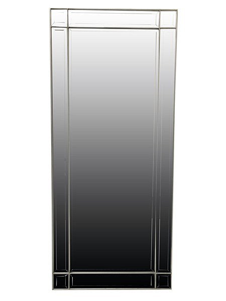 Contemporary style mirror with bevelled mirror frame