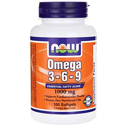Now Foods Omega 3-6-9 1000mg suplement diety 100 kapsułek