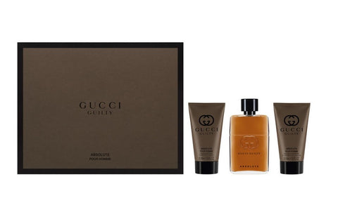Gucci Guilty Absolute Pour Homme woda perfumowana spray 50ml + balsam po goleniu 50ml + żel pod prysznic 50ml