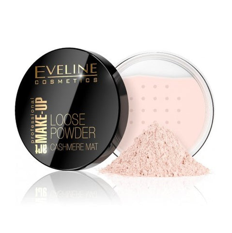 Eveline Cosmetics Art Make-Up Loose Powder Cashmere Mat matujący puder sypki 02 Beige 20g