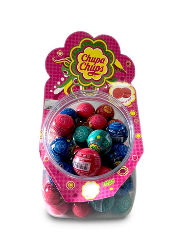 Lip Smacker Flavoured Lip Balm Domed Ball zestaw błyszczyki do ust Chupa Chups Mix 45x7g