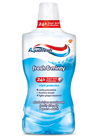 Aquafresh Fresh and Minty Mouthwash płyn do płukania jamy ustnej 500ml