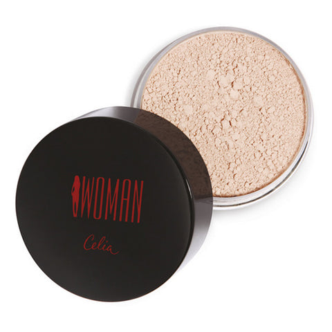 Celia Woman Powder puder sypki do twarzy 10 Transparentny Mat 25g