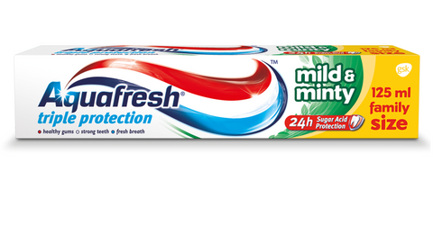 Aquafresh Triple Protection Mild And Minty Toothpaste pasta do zębów 125ml