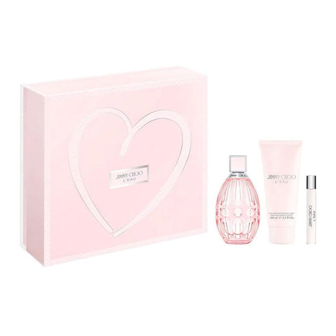Jimmy Choo L'eau zestaw woda toaletowa spray 90ml + balsam do ciała 100ml + woda toaletowa spray 7.5ml