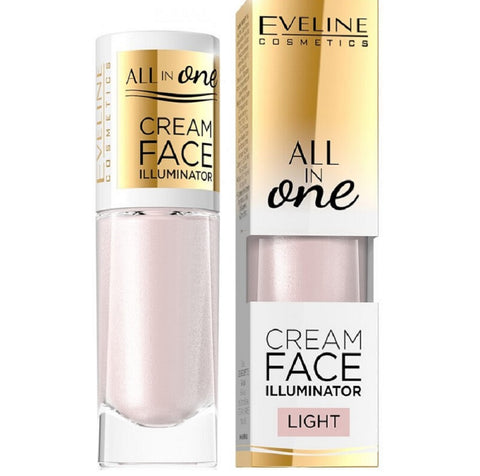 Eveline Cosmetics All In One Cream Face Illuminator kremowy rozświetlacz w płynie Light 8ml