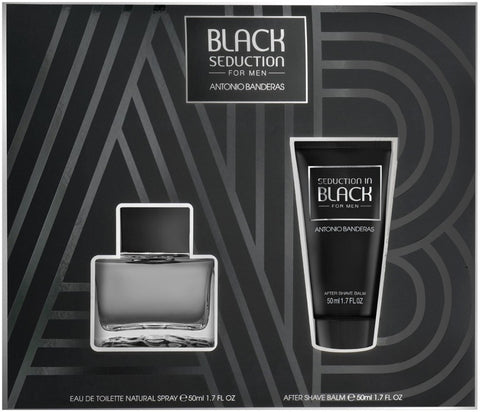 Antonio Banderas Black Seduction For Men zestaw woda toaletowa spray 50ml + balsam po goleniu 50ml
