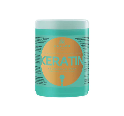 Kallos Keratin Hair Mask With Keratin And Milk Protein maska do włosów suchych i łamiących się z wyciągiem keratyny i proteiny mlecznej 1000ml
