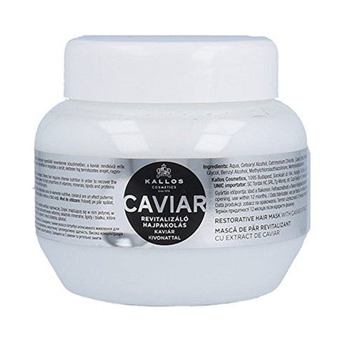 Kallos Caviar Restorative Hair Mask With Caviar Extract rewitalizująca maska do włosów z ekstraktem z kawioru 275ml