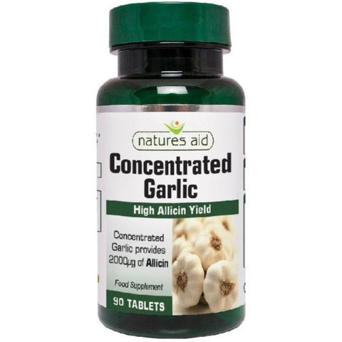 Natures Aid Concentrated Garlic 2000µg wyciąg z czosnku suplement diety 90 tabletek