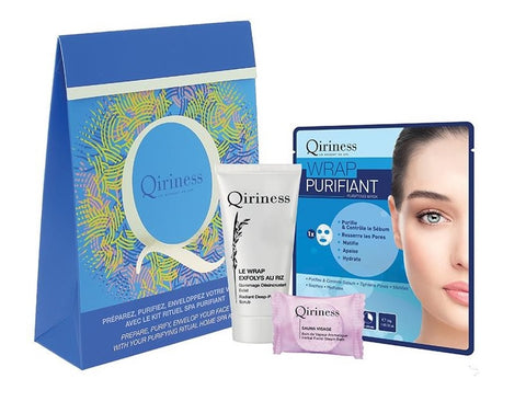 Qiriness Zestaw Radiant Deep Pore Scrub 20ml + Herbal Facial Steam Bath 8g + Purifying Mask 30g