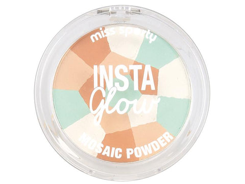 Miss Sporty Insta Glow Mosaic Powder prasowany puder do twarzy 001 Luminous Light 7,29g