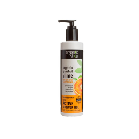 Organic Shop Organic Grapefruit & Lime Active Shower Gel grejpfrutowy aktywny żel pod prysznic 280ml