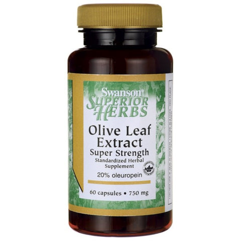 Olive Leaf Extract Liść Oliwny 750mg suplement diety 60 kapsułek