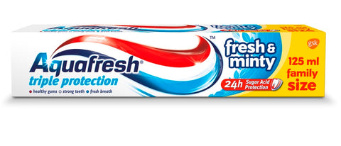 Aquafresh Triple Protection Fresh And Minty Toothpaste pasta do zębów 125ml