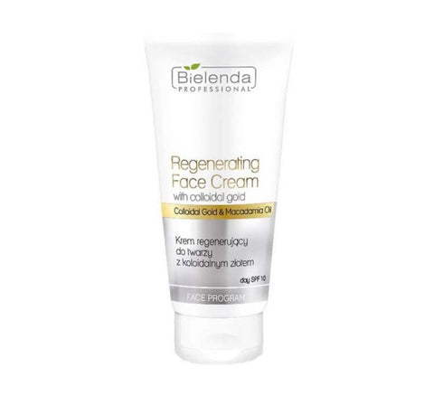 Bielenda Professional Regenerating Face Cream With Colloidal Gold krem regenerujący do twarzy z Koloidalnym Złotem SPF10 150ml
