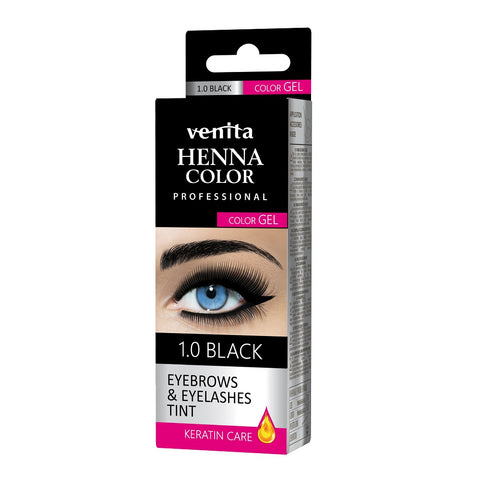 Venita Henna Color Gel żelowa farba do brwi i rzęs 1.0 Black