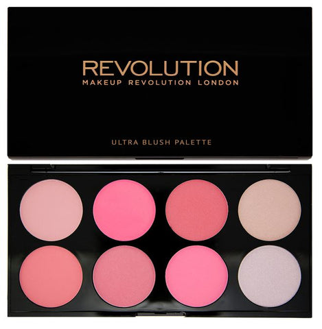 Makeup Revolution Ultra Professional Blush Palette paleta róży All About Pink 13g