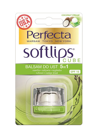 Perfecta Softlips Cube 5w1 balsam do ust Kokos SPF15 6.5g