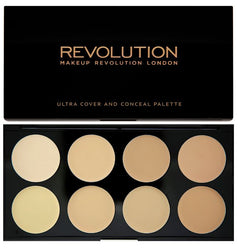 Makeup Revolution Ultra Professional Cover & Concealer Palette paleta korektorów Light 10g