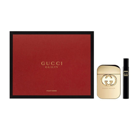 Gucci Guilty Pour Femme zestaw woda toaletowa spray 50ml + woda toaletowa spray 7.4ml