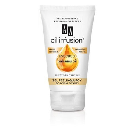 AA Oil Infusion Avocado Babassu Oil Peeling Gel For Washing Face żel peelingujący do mycia twarzy 150ml