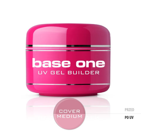 Gel Base One Cover Medium maskujący żel UV do paznokci 50g