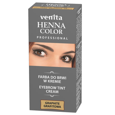 Venita Professional Henna Color farba do brwi w kremie Grafit