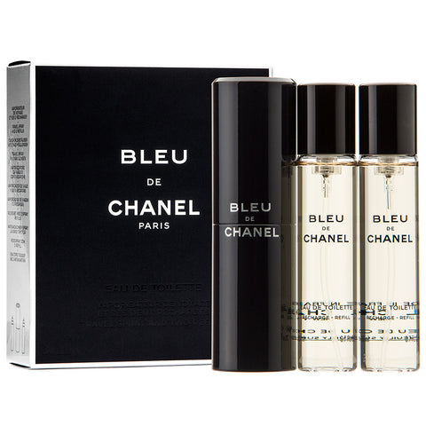 Bleu de Chanel twist and spray woda toaletowa spray z wymiennym wkładem 3x20ml