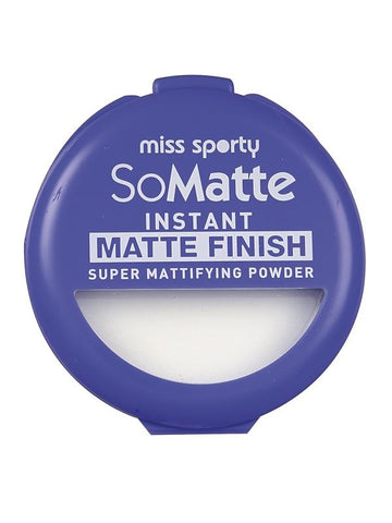 Miss Sporty So Matte Instant Matte Finish Super Mattifying Powder puder antybakteryjny w kamieniu 001 Universal 9,4g