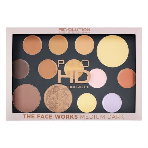 Pro HD Palette The Works paleta cieni do powiek  Medium/Dark 27g