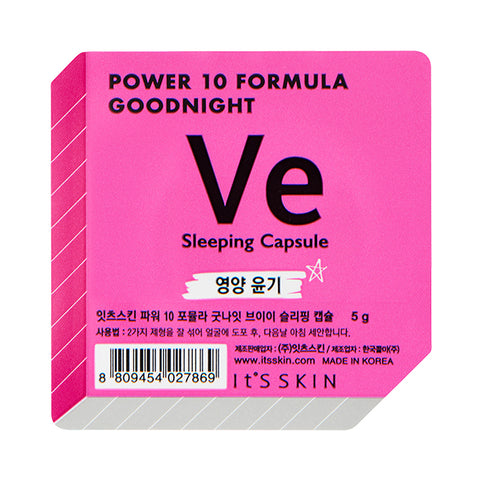 It's Skin Power 10 Formula Good Night Sleeping Capsule VE dwufazowa maseczka całonocna w kapsułce 5g