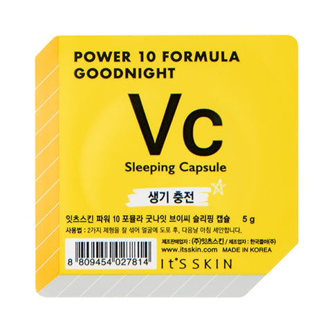 It's Skin Power 10 Formula Good Night Sleeping Capsule VC dwufazowa maseczka całonocna w kapsułce 5g