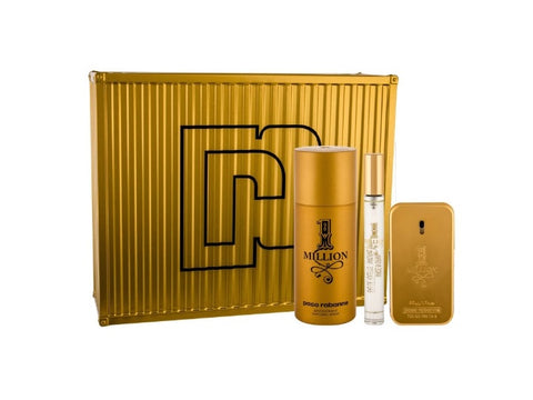 Paco Rabanne 1 Million Men zestaw woda toaletowa spray 50ml + miniaturka wody toaletowe spray 10ml + dezodorant spray 150ml