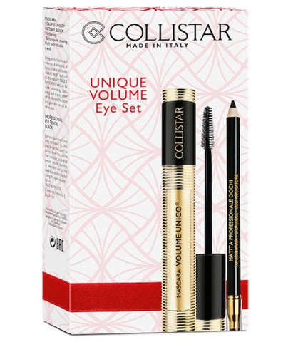 Collistar Unique Volume Eye Set zestaw Mascara Volume Unico tusz do rzęs Black 13ml + Eye Pencil kredka do oczu Black