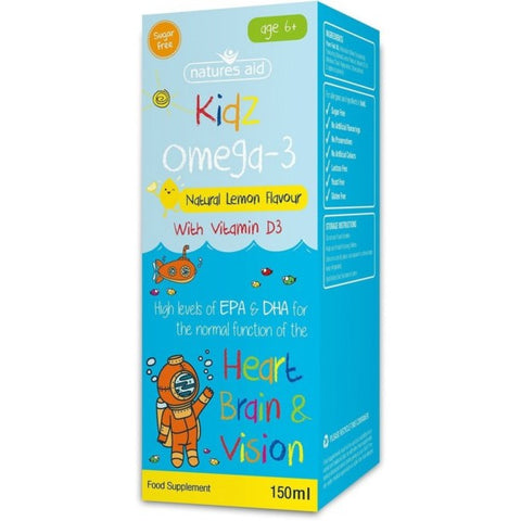 Natures Aid Kidz Omega-3 suplement diety 150ml
