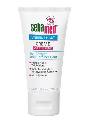 Sebamed Clear Face Mattifying Cream matujący krem do twarzy 50ml