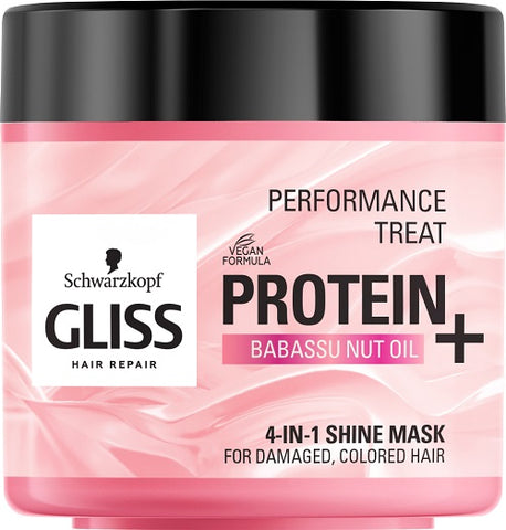 Performance Treat 4-in-1 Shine Mask maska nabłyszczająca do włosów Protein + Babassu Nut Oil 400ml