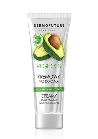 Dermofuture Vege Skin Creamy Body Mousse kremowy mus do ciała Avocado & Shea Butter 200ml