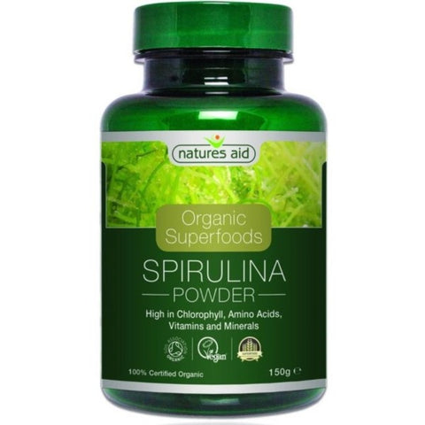 Natures Aid Organic Superfoods Spirulina suplement diety 150g