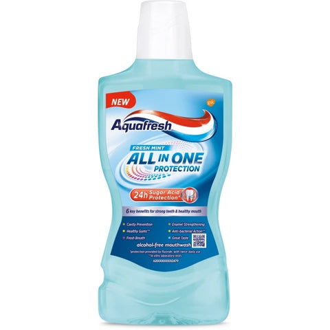 Aquafresh All In One Protection płyn do płukania jamy ustnej Fresh Mint 500ml