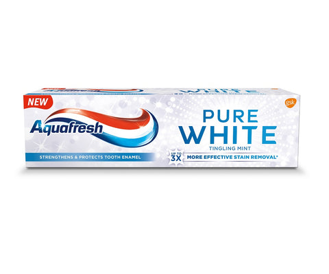 Aquafresh Pure White pasta do zębów z fluorkiem Tingling Mint 75ml